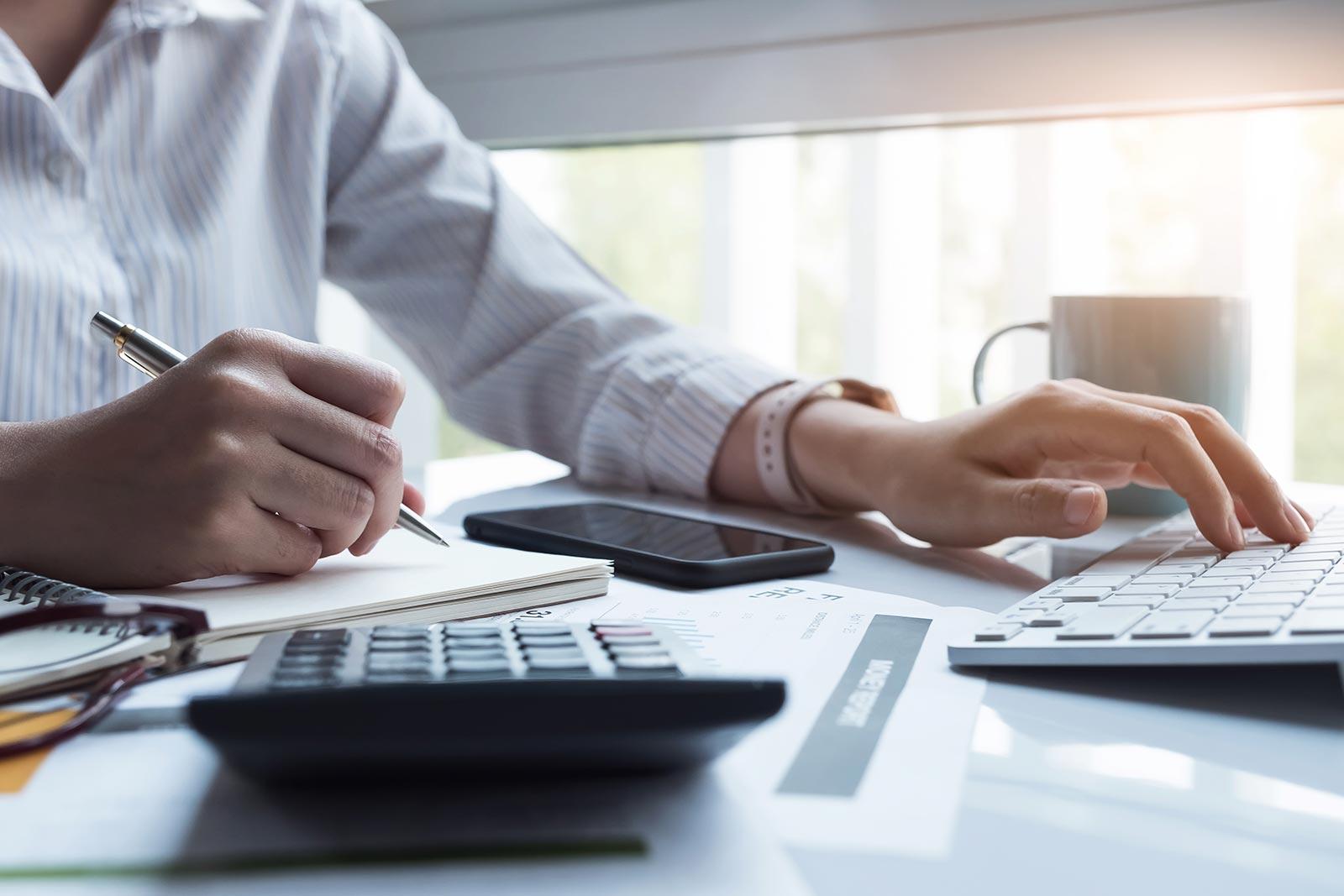 Reviewing finances